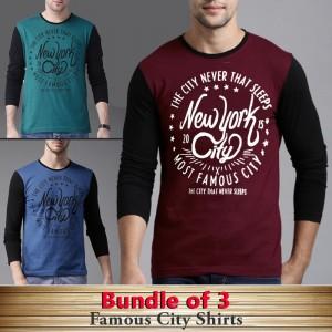 Bundle Of 3 ( Famous City Shirts )