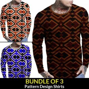 Bundle Of 3 (Pattern Design Shirts )