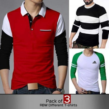 Pack of 3 ( RBW Different T-Shirts )