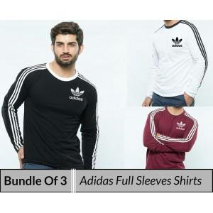 Bundle Of 3 ( Adidas full sleeves shirt)