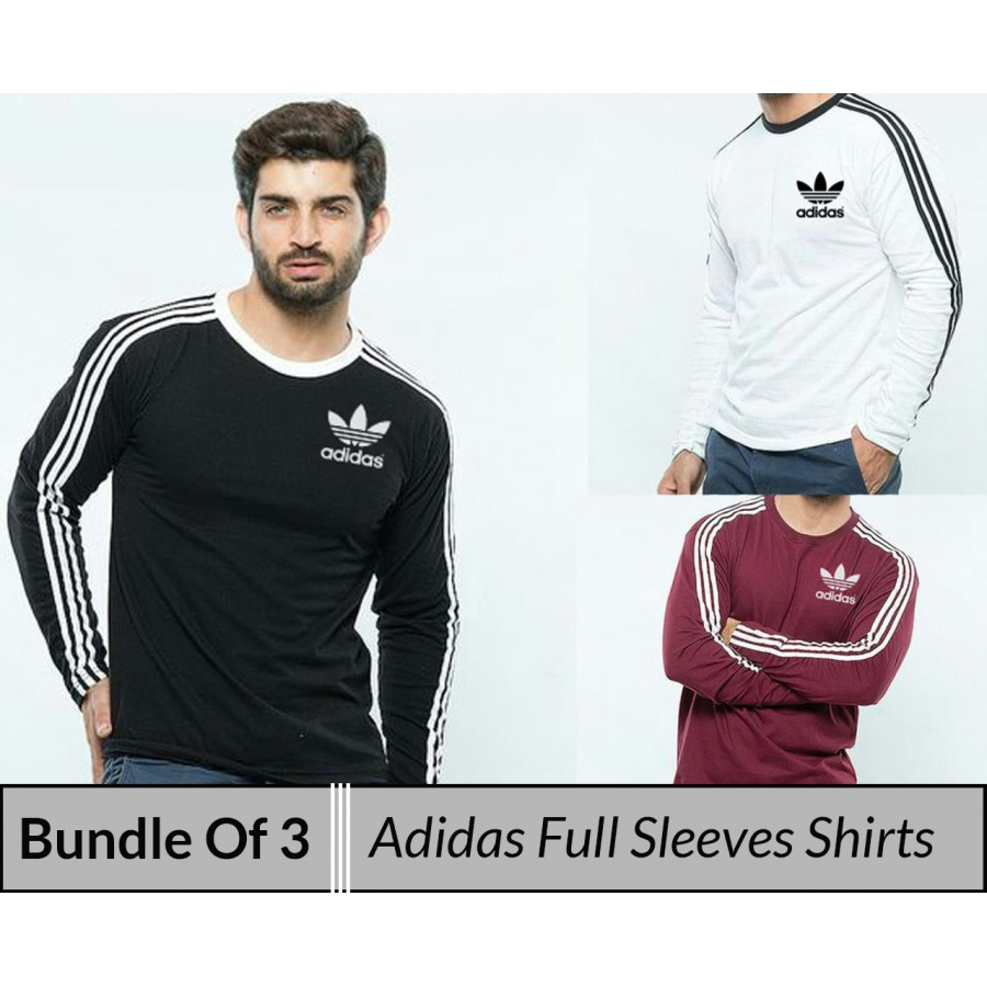 Bundle Of 3 ( Adidas full sleeves shirt)