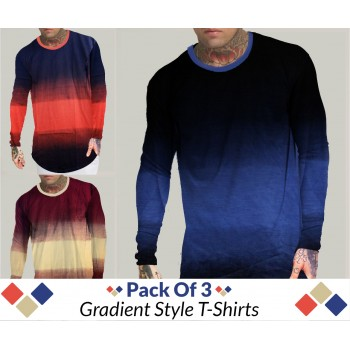 Pack Of 3 ( Gradient Style T- shirt)