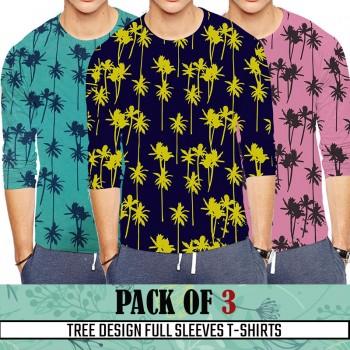 Pack Of 3 ( Tree Design Full SleevesT- shirt)