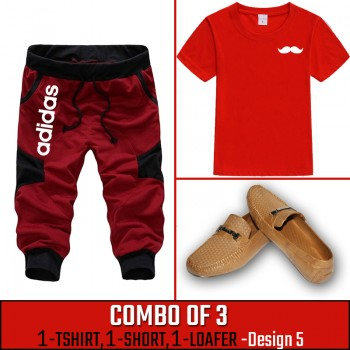 Combo of 3 ( 1 Shirt , 1 Watch , 1 Loafer ) ( Design-5)