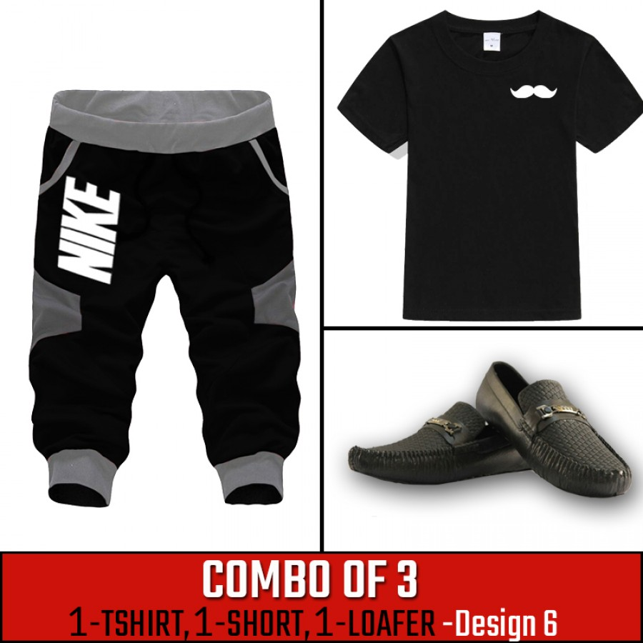 Combo of 3 ( 1 Shirt , 1 Watch , 1 Loafer ) ( Design-6)