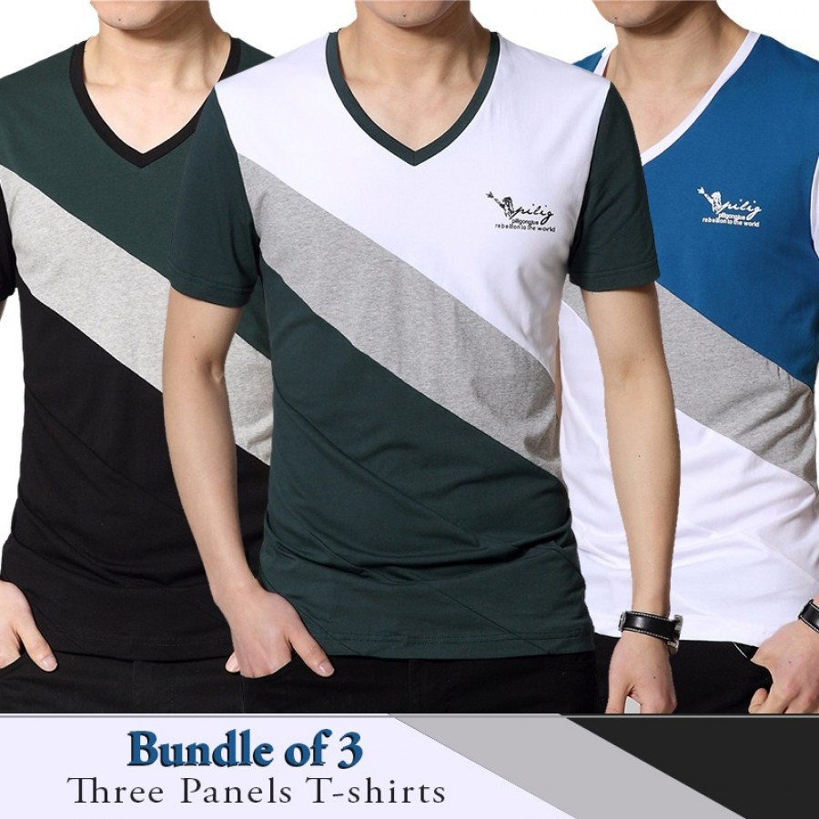 Bundle of 3  Three Panels  T-shirts