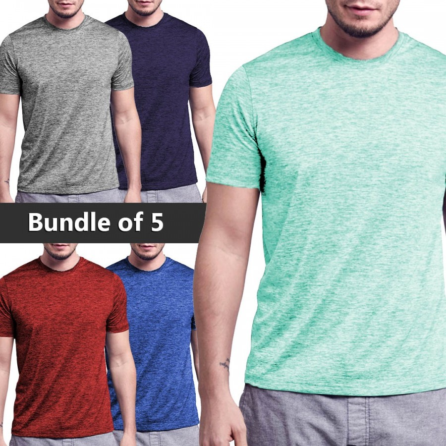 Bundle Of 5 (Glitch Design 2 Colorful T-shirts)