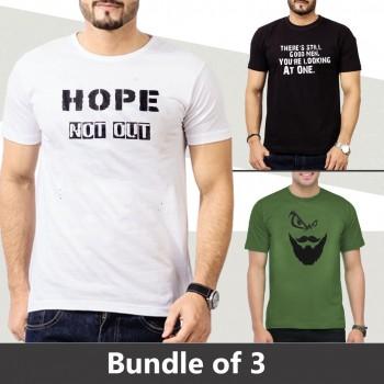 Bundle Of 3 (Different Design T-shirts)