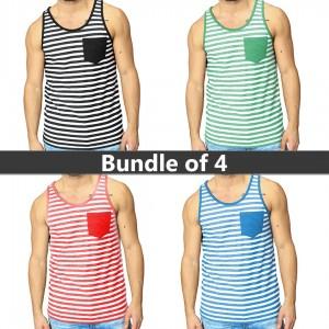 Bundle Of 4 ( Line Pocket Color Sandos)