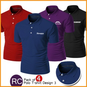 Pack of Polo T Shirts (Design 3 )