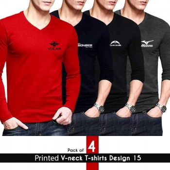printed v-neck tshirt design 15