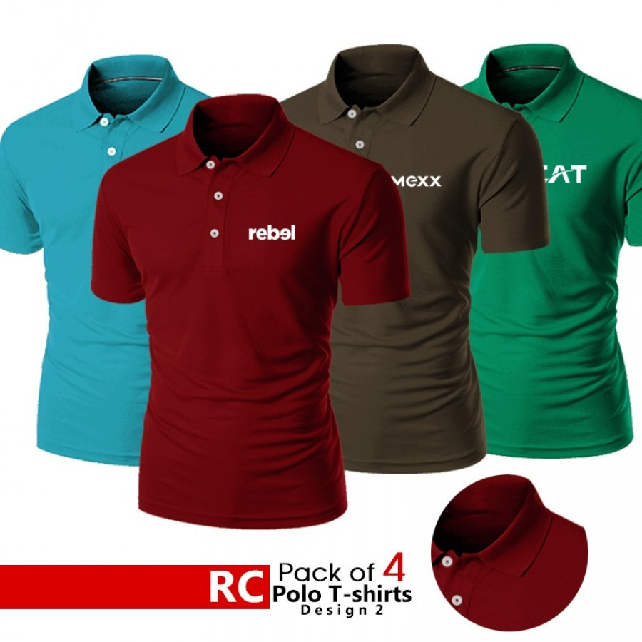Pack of Polo T Shirts (Design 2 )
