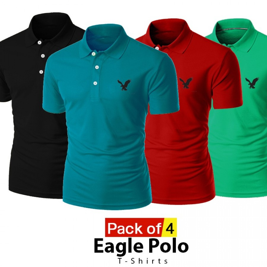 Pack of 4 Eagle Polo T-shirts