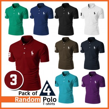 Pack of 4 Random Polo Tshirts