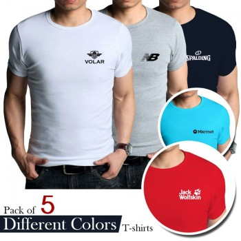 Pack of 5 Different Color Tshirts