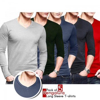 Pack Of 5 Bengalura Long Sleeve T-shirts