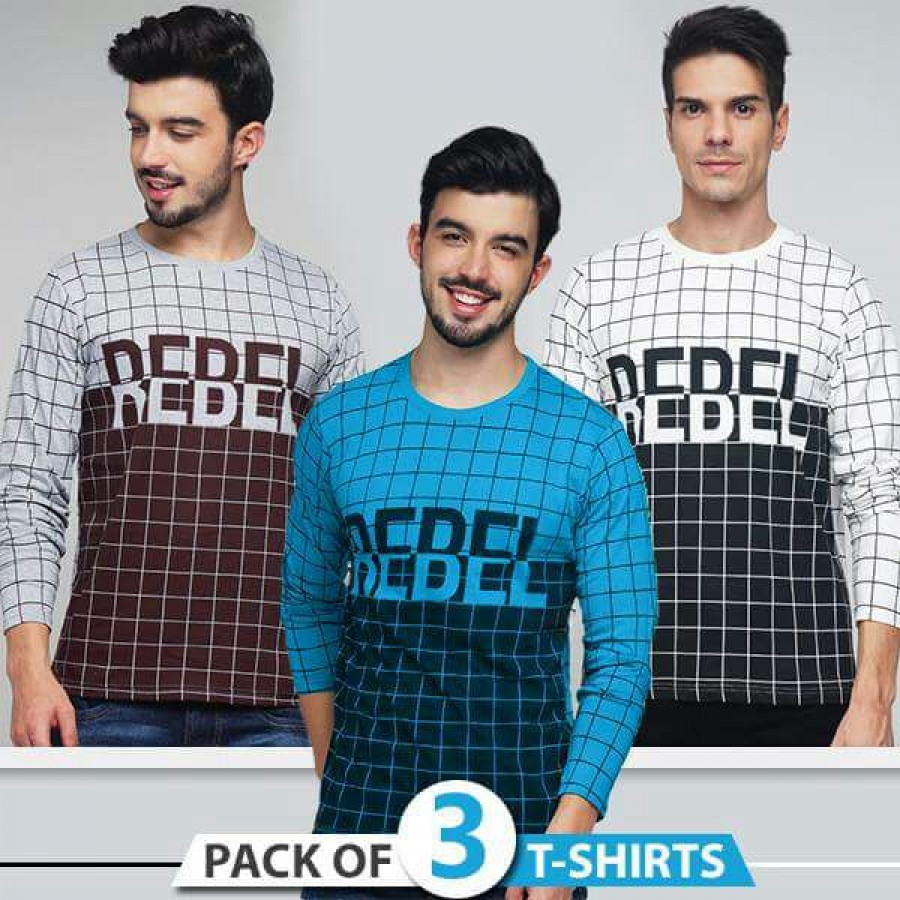 Pack of 3 Rebel T-Shirts
