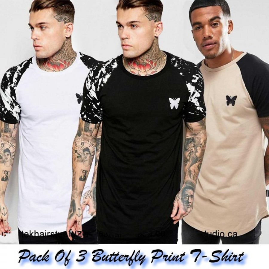 Pack of 3 Butterfly Print T-Shirts