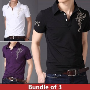 Bundle of 3 Chest Arm Printed Shirt