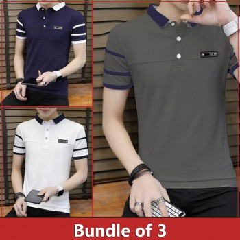 Pack of 3 Sleeve Stripe T-shirts