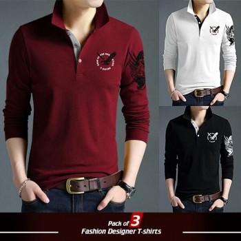 Pack of 3 Eagle Design T-shirts