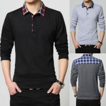 Pack of 3 Checkered Polo T-shirts