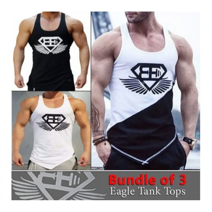PACK OF 3 EAGLE TANK TOP