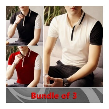 PACK OF 3 CONTRACT SLEEVES T-SHIRT