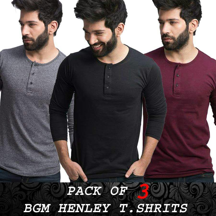 PACK OF 3 BGM Henly t-shirts