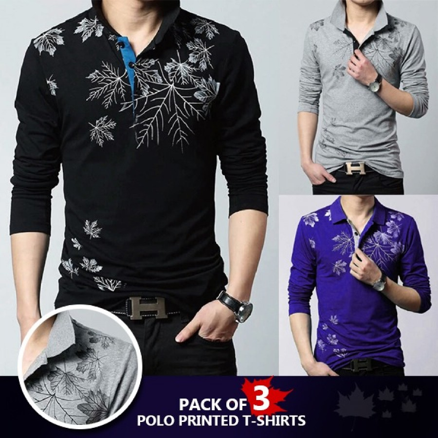 Pack of 3 Polo Printed T-shirt