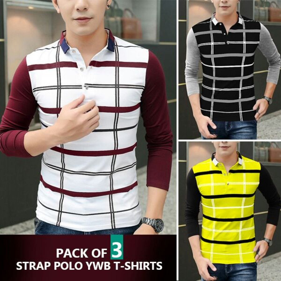 Pack of 3 Strap polo YWB T-shirt