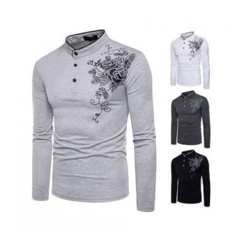 Pack of 3 Chest flower T-Shirts -Design 4