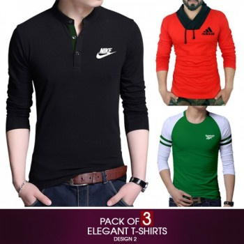 Pack of 3 Elegant T-Shirt Design 2