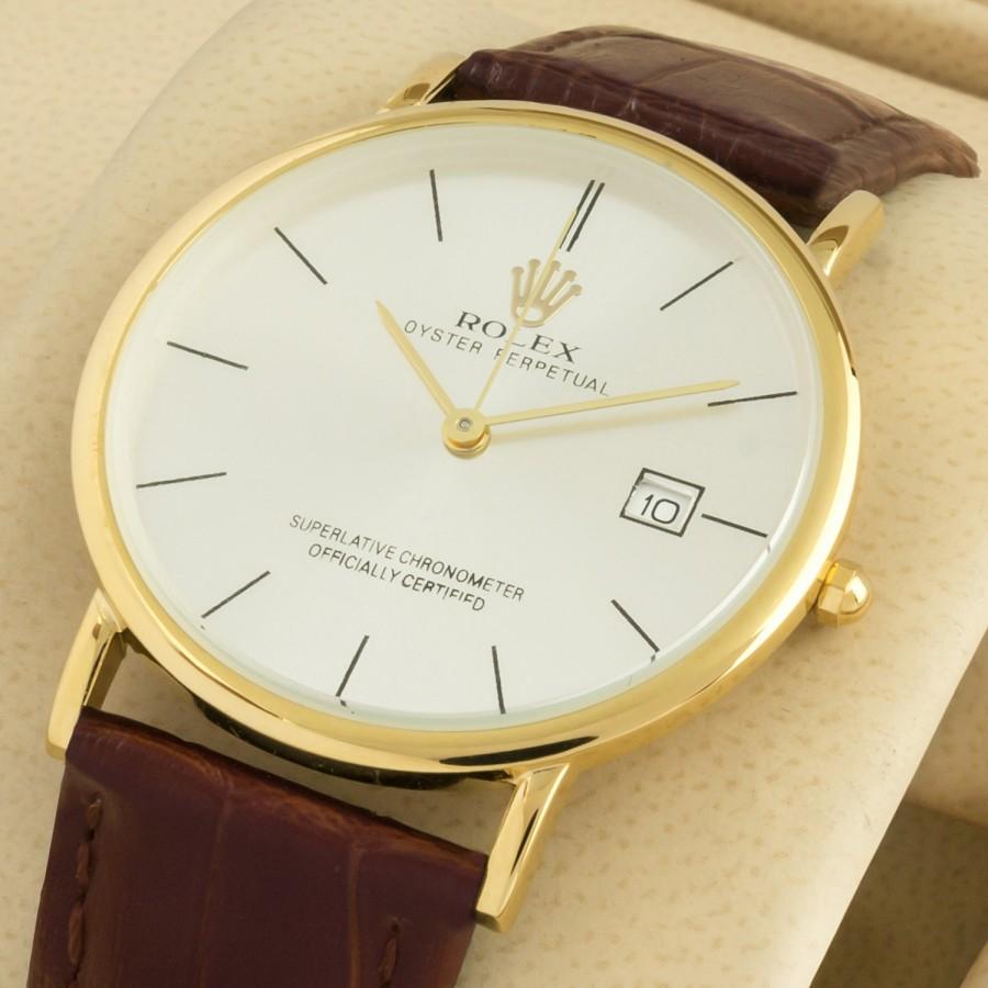 Rolex Thinline Date Just White Gold