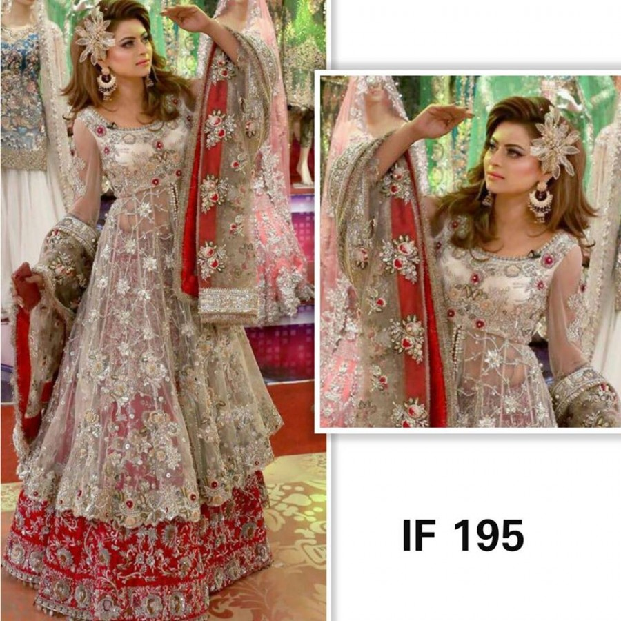 Designer Embroidered 3 piece Suit  (IF 195)