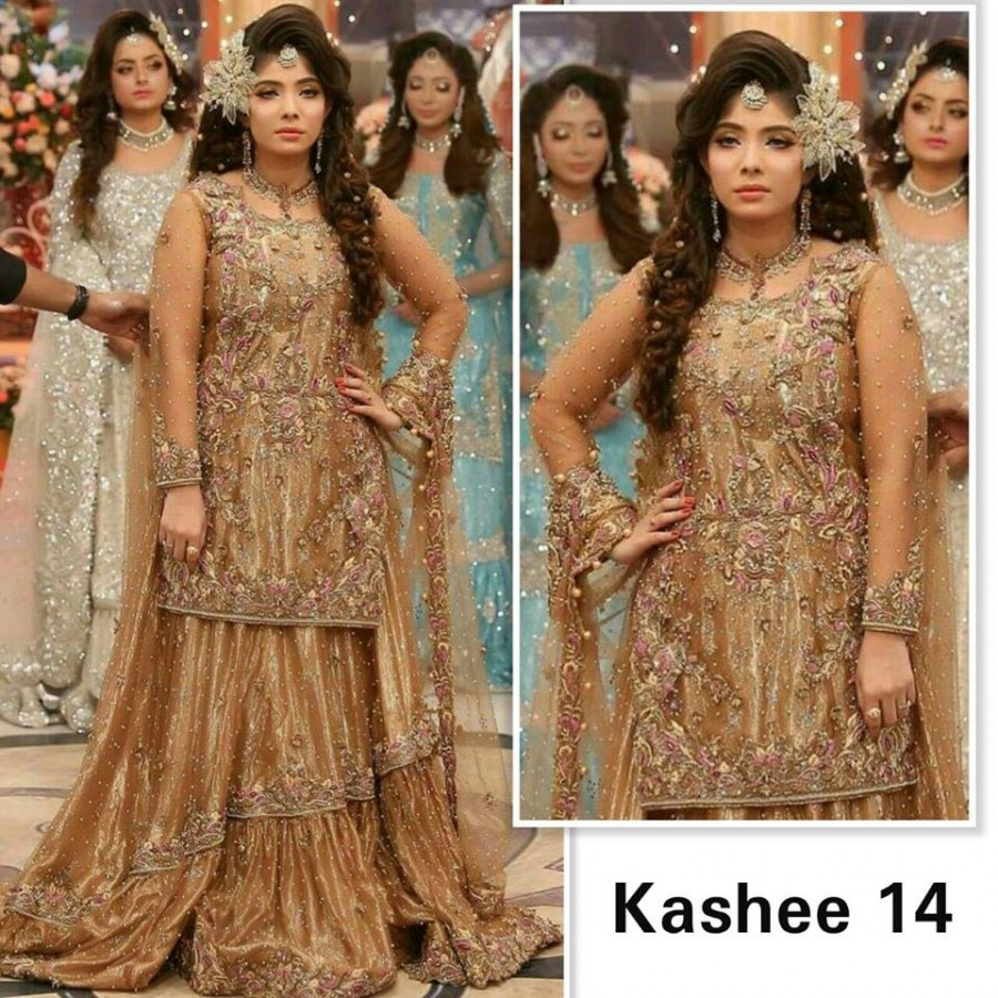 Designer Embroidered 3 piece Suit  (Kashee 14)