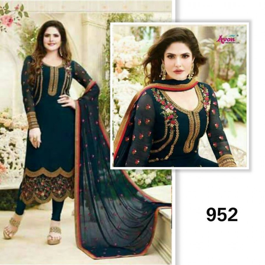 Designer Embroidered 3 piece Suit  (952)