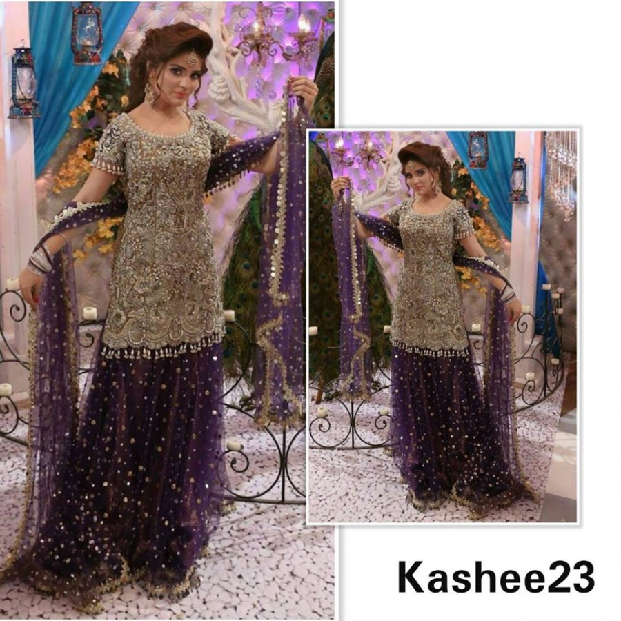 Designer Embroidered 3 piece Suit  (Kashee 23)