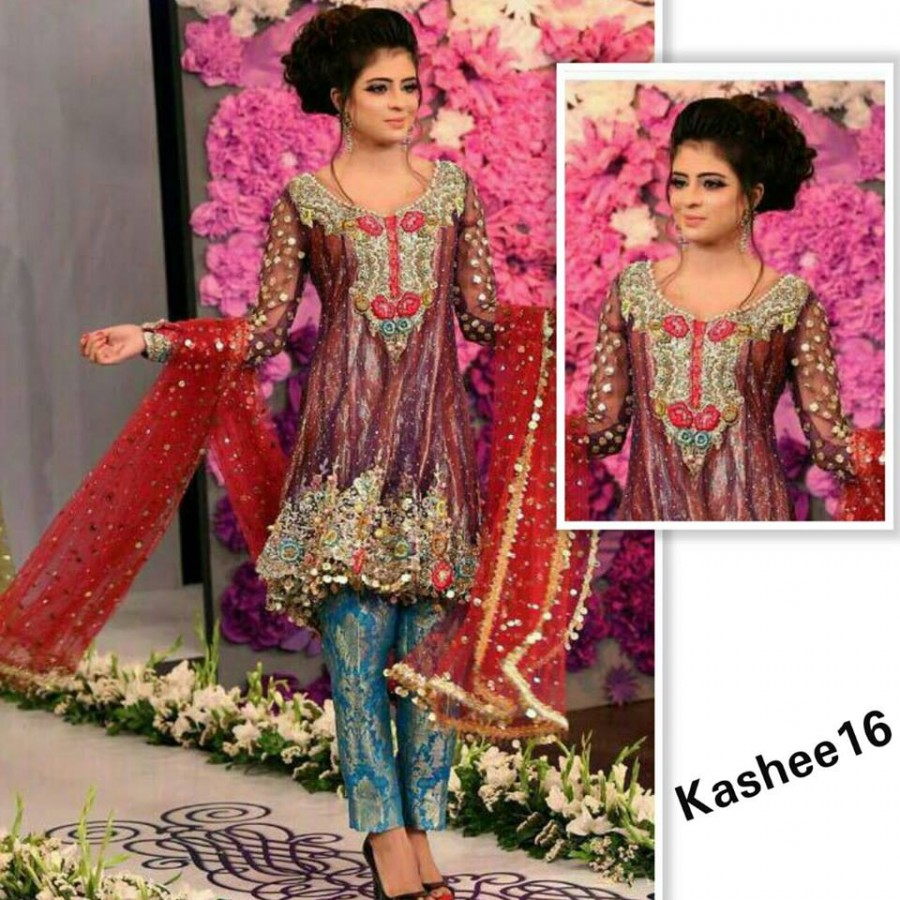Designer Embroidered 3 piece Suit  (Kashee 16)