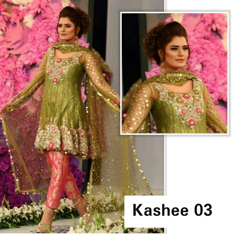 Designer Embroidered 3 piece Suit  (Kashee 03)