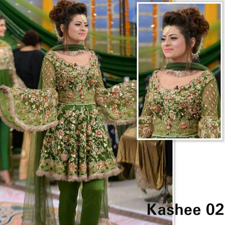 Designer Embroidered 3 piece Suit  (Kashee 02)