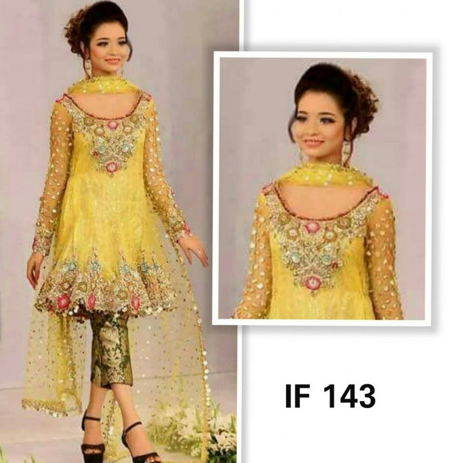 Designer Embroidered 3 piece Suit  (IF 143)