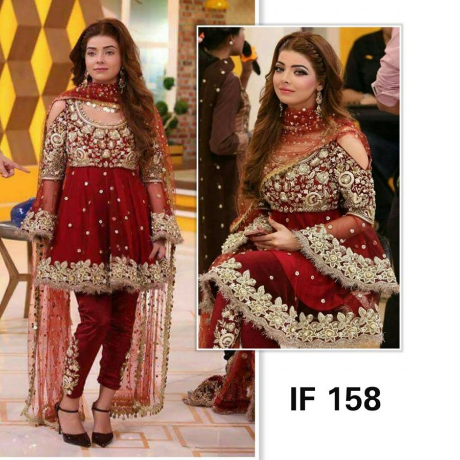 Designer Embroidered 3 piece Suit  (IF 158)