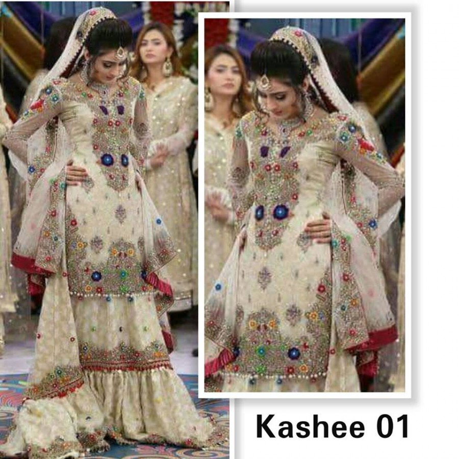 Designer Embroidered 3 piece Suit  (Kashee 01)