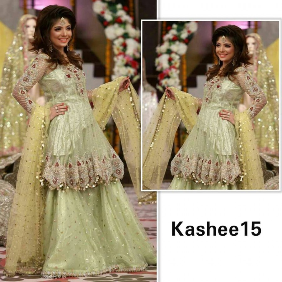 Designer Embroidered 3 piece Suit  (Kashee 15)