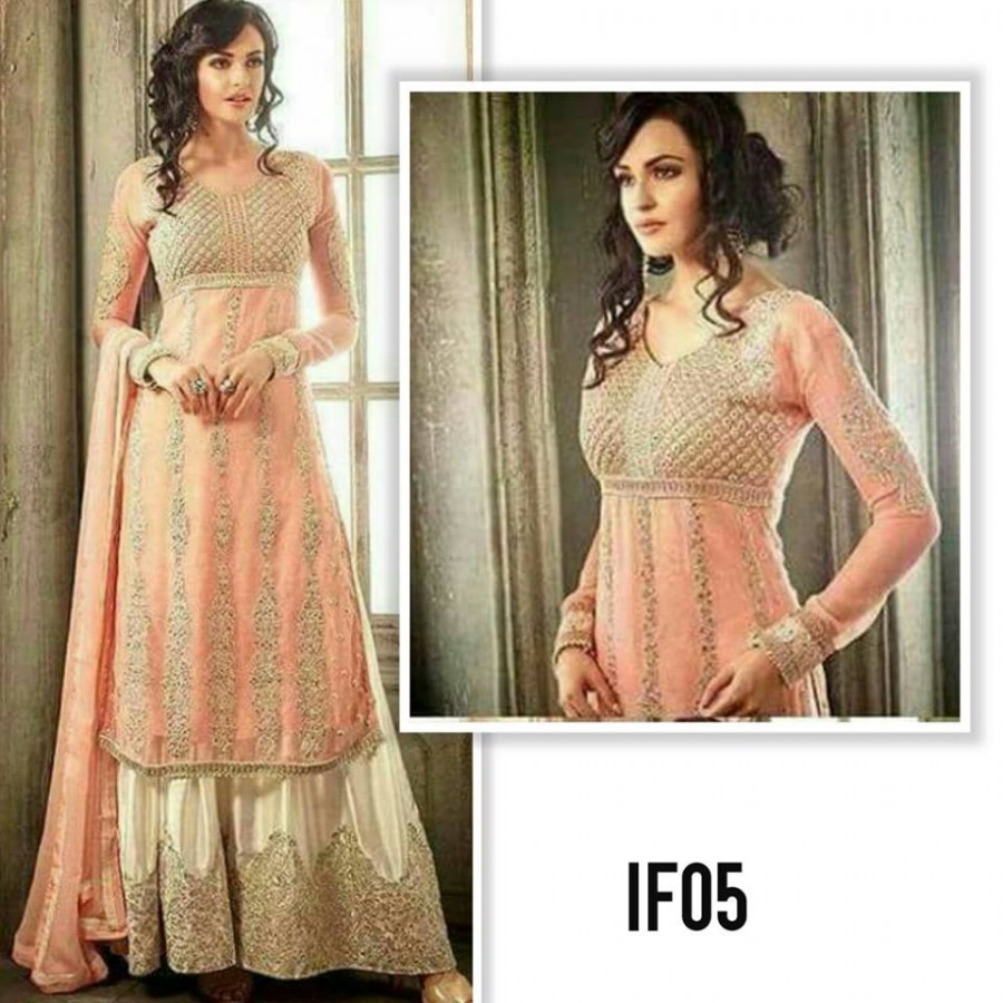 Designer Embroidered 3 piece Suit  (Kashee 05)