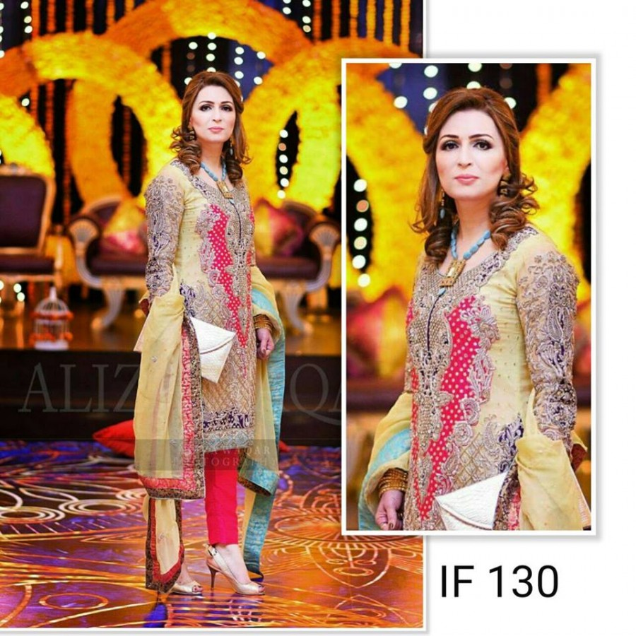 Designer Embroidered 3 piece Suit  (IF 130)