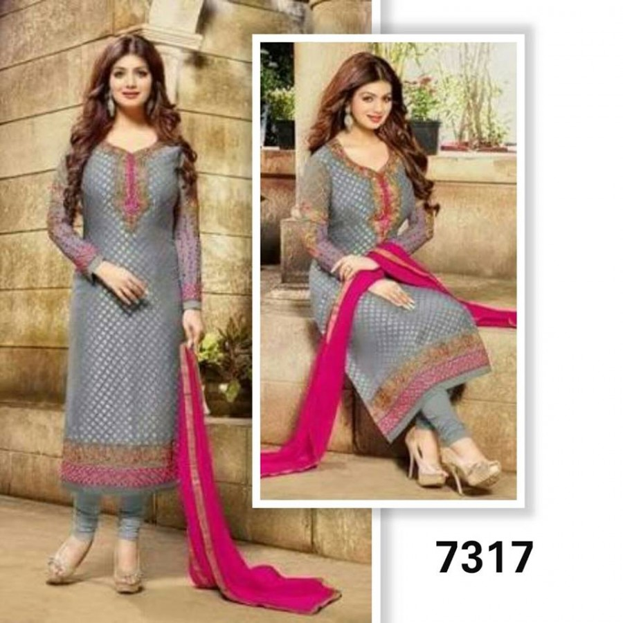 Designer Embroidered 3 piece Suit  (7317)