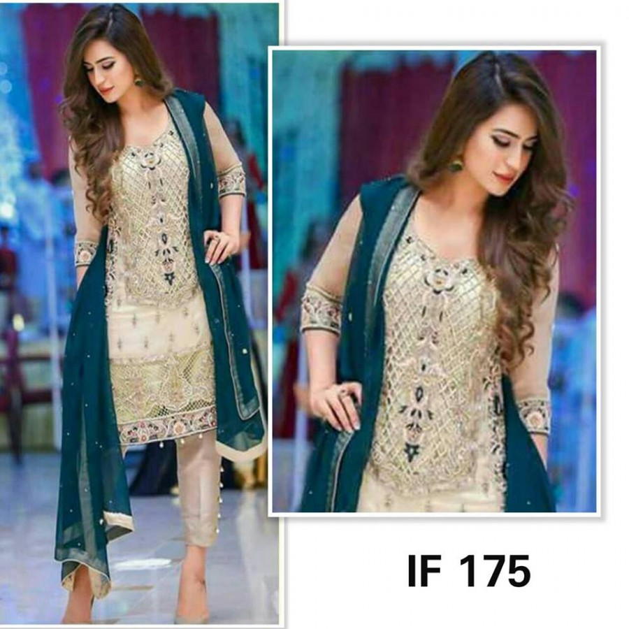Designer Embroidered 3 piece Suit  (IF 175)