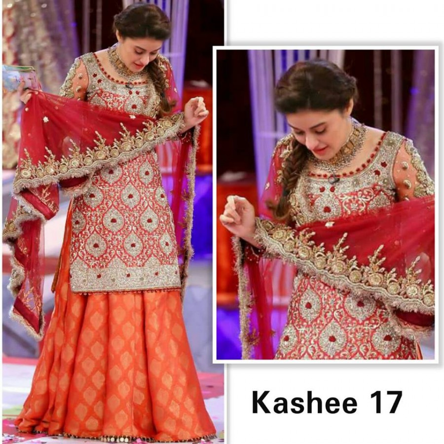 Designer Embroidered 3 piece Suit  (Kashee 17)